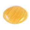 Glass Pressed Beads 16x12mm Flat Oval Mustard